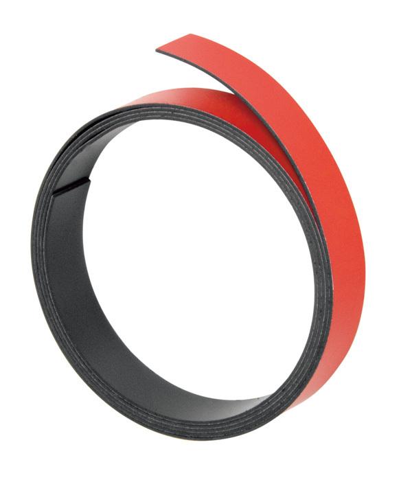 Magnetna traka 10mmx100cm crvena Franken