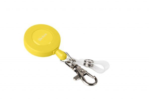 Sajla Yo-Yo za ID kartice 60cm sa kukicom i zatvaračem, 1/10 žuta Tarifold