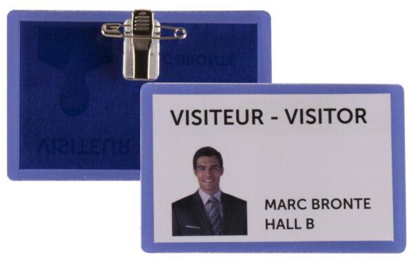 Samolaminirajući bedž za ID kartice, 100x66mm, kombo zakačka 1/25 plava Tarifold