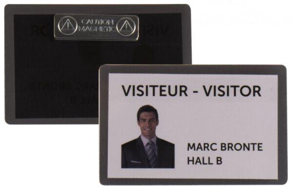 Samolaminirajući bedž za ID kartice, 100x66mm, sa magnetom 1/25 crna Tarifold