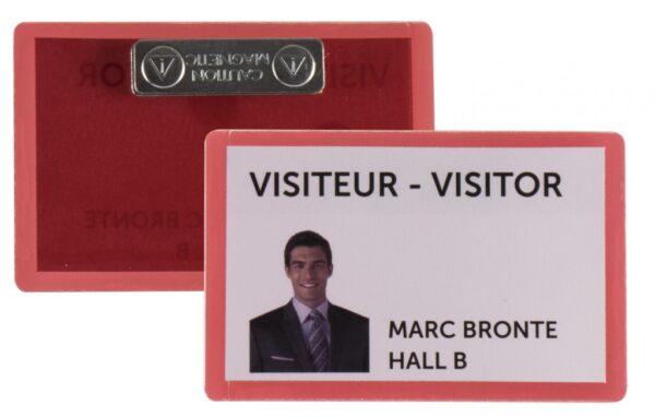 Samolaminirajući bedž za ID kartice, 100x66mm, sa magnetom 1/25 crvena Tarifold