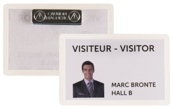 Samolaminirajući bedž za ID kartice, 100x66mm, sa magnetom 1/25 transparent Tarifold