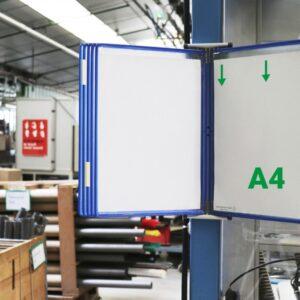 Stalak zidni čelični sa 10 plavih ramova A4 Tarifold