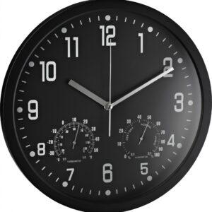 Zidni sat analogni sa termometrom i hidrometrom crna Alco