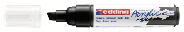 Akrilni marker E-5000 broad 5-10mm kosi vrh crna Edding