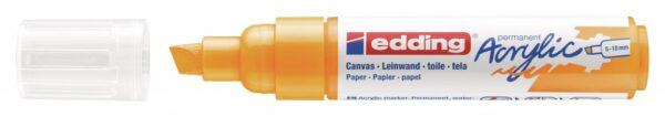 Akrilni marker E-5000 broad 5-10mm kosi vrh jarko žuta Edding