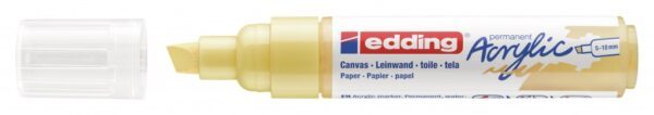 Akrilni marker E-5000 broad 5-10mm kosi vrh nežno žuta Edding