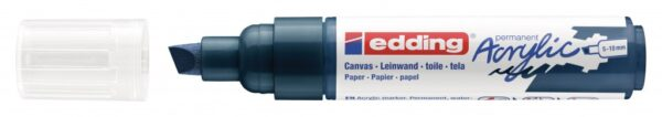 Akrilni marker E-5000 broad 5-10mm kosi vrh tamno plava Edding