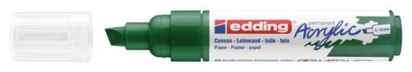 Akrilni marker E-5000 broad 5-10mm kosi vrh zelena Edding