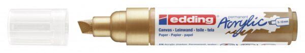 Akrilni marker E-5000 broad 5-10mm kosi vrh zlatna Edding
