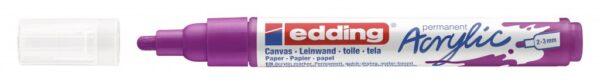 Akrilni marker E-5100 medium 2-3mm obli vrh borovnica Edding