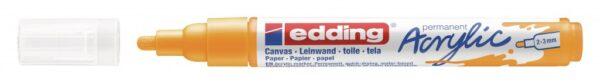 Akrilni marker E-5100 medium 2-3mm obli vrh jarko žuta Edding