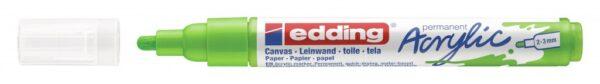 Akrilni marker E-5100 medium 2-3mm obli vrh limun zelena Edding