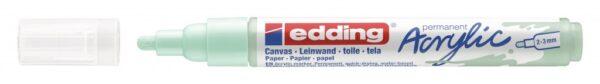 Akrilni marker E-5100 medium 2-3mm obli vrh mramorno zelena Edding