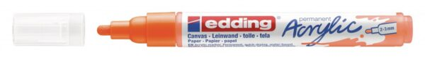 Akrilni marker E-5100 medium 2-3mm obli vrh neon narandžasta Edding