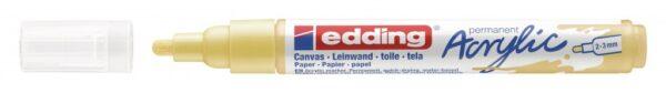 Akrilni marker E-5100 medium 2-3mm obli vrh nežno žuta Edding