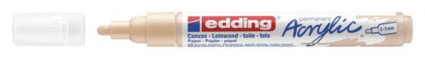 Akrilni marker E-5100 medium 2-3mm obli vrh oker Edding