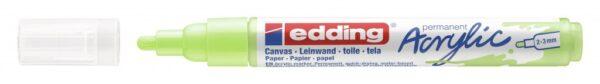 Akrilni marker E-5100 medium 2-3mm obli vrh pastelno zelena Edding