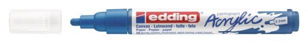 Akrilni marker E-5100 medium 2-3mm obli vrh plava Edding