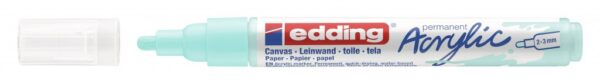 Akrilni marker E-5100 medium 2-3mm obli vrh svetlo plava Edding