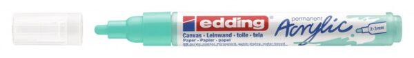 Akrilni marker E-5100 medium 2-3mm obli vrh tirkiz Edding