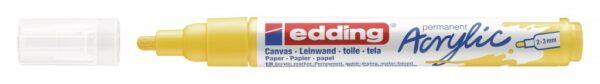 Akrilni marker E-5100 medium 2-3mm obli vrh žuta Edding