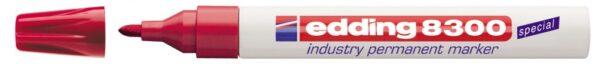 Industrijski permanent marker E-8300 1,5-3mm crvena Edding