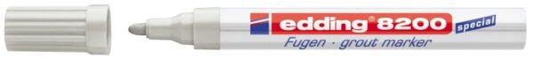Marker za fuge E-8200 2-4mm srebrno-sivo Edding