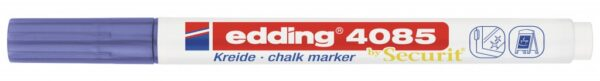 Marker za staklo CHALK MARKER E-4085 1-2mm metalik ljubičasta Edding