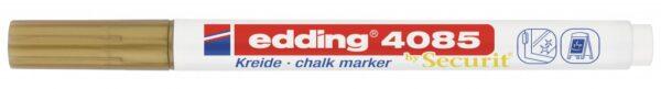 Marker za staklo CHALK MARKER E-4085 1-2mm standard zlatna Edding