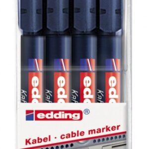 Markeri za kablove E-8407 0,3mm, set 1/4 Edding
