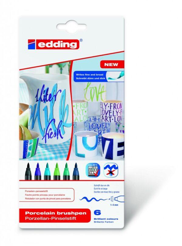Markeri za porcelan E-4200 1-4mm 1/6, hladne boje Edding