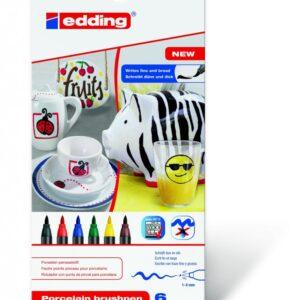 Markeri za porcelan E-4200 1-4mm 1/6, standard boje Edding