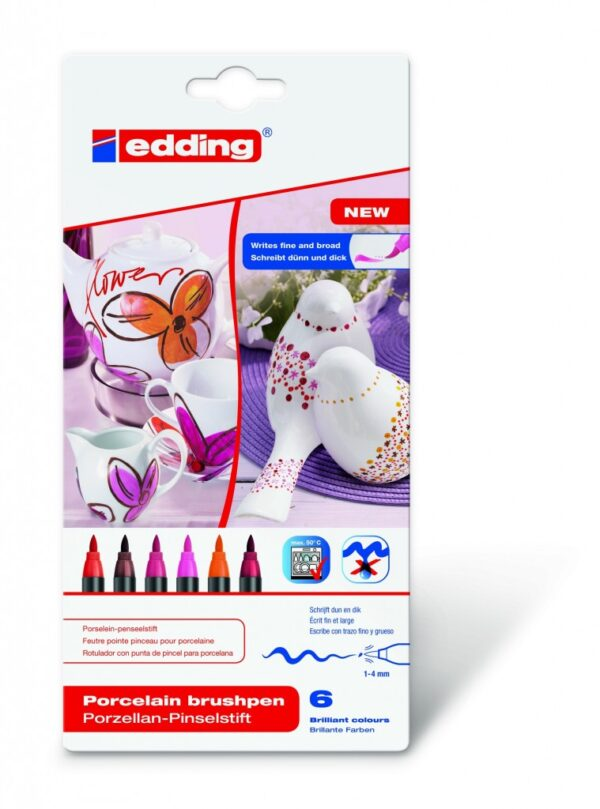 Markeri za porcelan E-4200 1-4mm 1/6, tople boje Edding