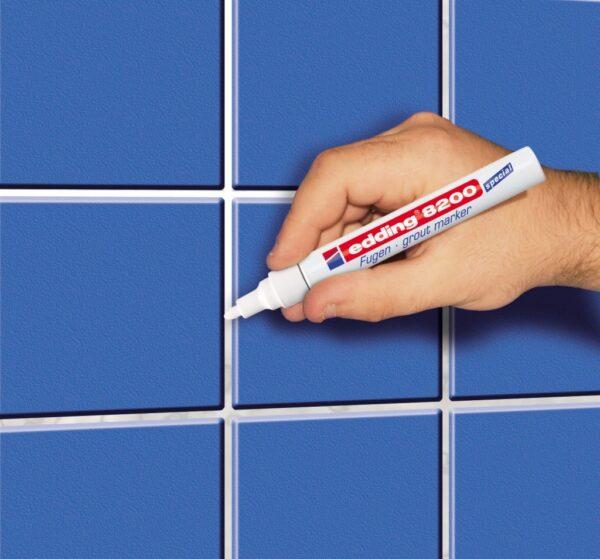 Marker za fuge E-8200 2-4mm bela Edding
