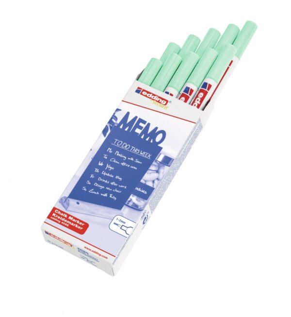 Marker za staklo CHALK MARKER E-4085 1-2mm pastel zelena Edding