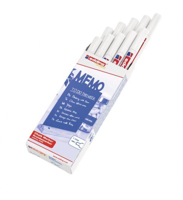 Marker za staklo CHALK MARKER E-4085 1-2mm standard bela Edding