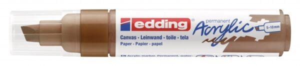 Akrilni marker E-5000 broad 5-10mm kosi vrh braon Edding