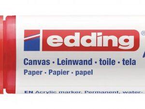 Akrilni marker E-5000 broad 5-10mm kosi vrh crvena Edding