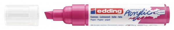 Akrilni marker E-5000 broad 5-10mm kosi vrh magenta Edding