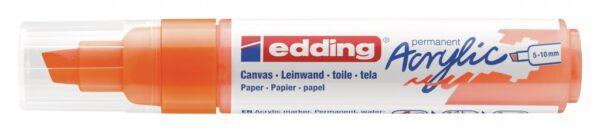 Akrilni marker E-5000 broad 5-10mm kosi vrh neon narandžasta Edding