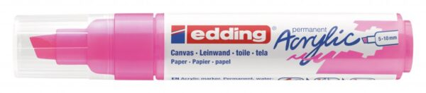 Akrilni marker E-5000 broad 5-10mm kosi vrh neon roze Edding
