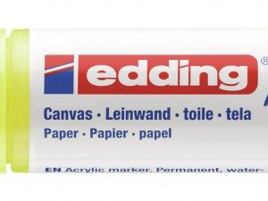 Akrilni marker E-5000 broad 5-10mm kosi vrh neon žuta Edding