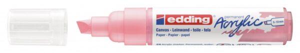 Akrilni marker E-5000 broad 5-10mm kosi vrh nežno roze Edding