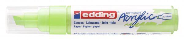 Akrilni marker E-5000 broad 5-10mm kosi vrh pastelno zelena Edding