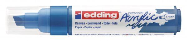 Akrilni marker E-5000 broad 5-10mm kosi vrh plava Edding
