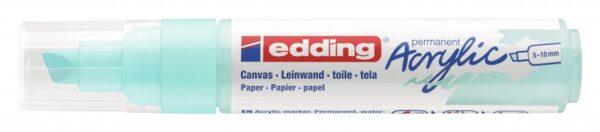 Akrilni marker E-5000 broad 5-10mm kosi vrh svetlo plava Edding