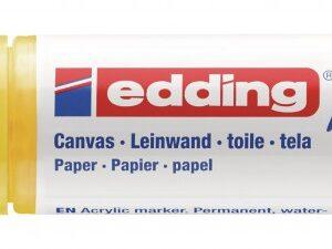 Akrilni marker E-5000 broad 5-10mm kosi vrh žuta Edding