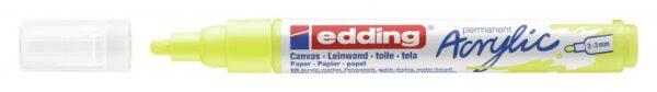 Akrilni marker E-5100 medium 2-3mm obli vrh neon žuta Edding