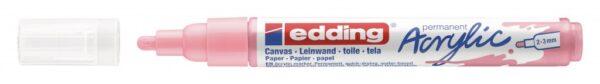 Akrilni marker E-5100 medium 2-3mm obli vrh nežno roze Edding